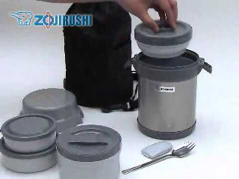 Bento Stainless-Steel Vacuum Lunch Jar FREE SHIPPING NEW Zojirushi SL-NCE09 Ms